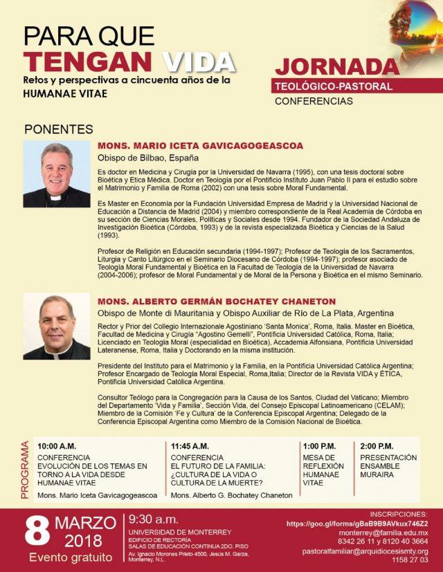 Ponentes Jornada Teológico-Pastoral